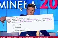 Czy twórcy nowej sondy w TVP Info to homofobi czy idioci?