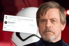 Mark Hamill napisał coś po polsku i udowodnił, że jest prawdziwym Jedi.