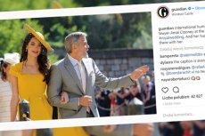 Amal Clooney z mężem.