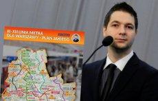 Patryk Jaki chce zbudować w Warszawie 11 nowych linii metra.