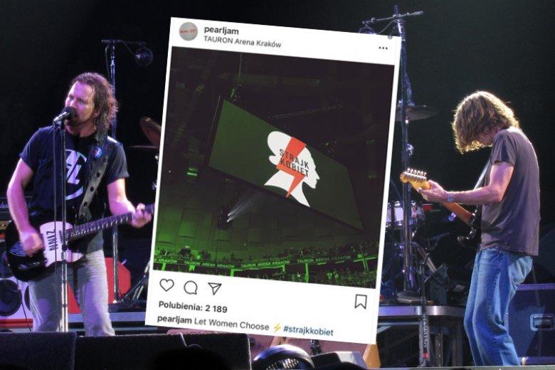 Pearl Jam dał support Strajkowi Kobiet.