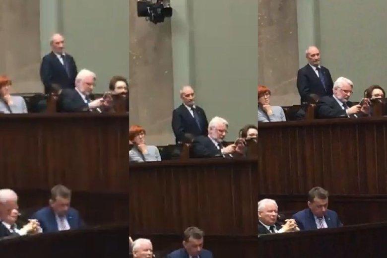 Dwa skoki w Sejmie. Jeden Macierewicza, drugi jego kolegów na Sąd Najwyższy i KRS.