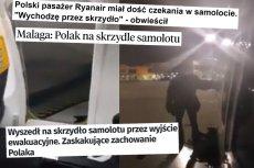 Polskie portale z dramatu Polaka w Ryanair zrobiły opowieść o typowym januszu.