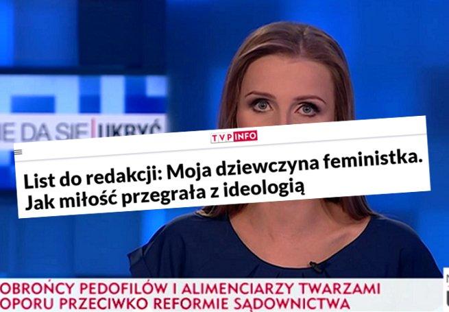 List TVP Info o związku z feministką przebił ten o związku z prawakiem.