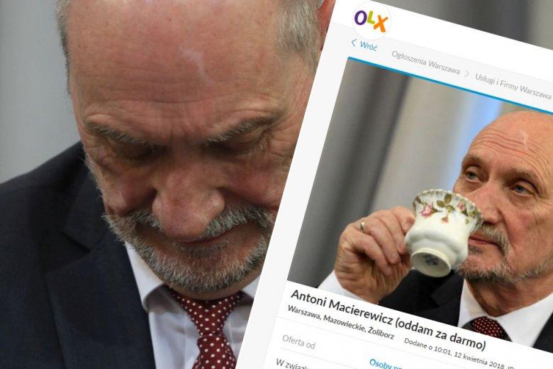 Antoni Macierewicz z PiS na OLX.