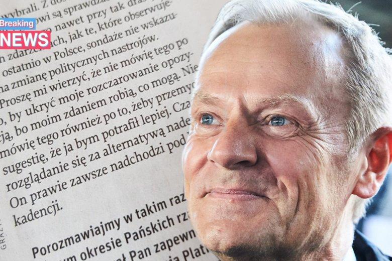 Donald Tusk jednym akapitem dał opozycji więcej nadziei niż wszystkie Schetyny i Plany Petru.