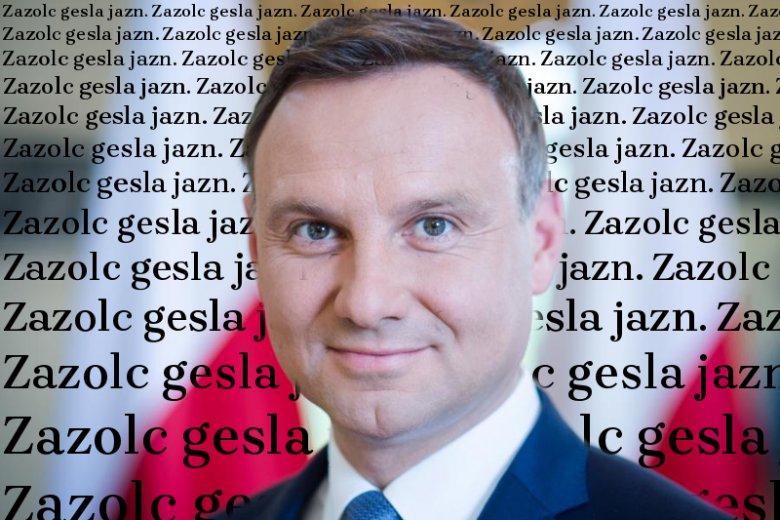 Andrzej Duda zaprezentował font Brygada 1918.