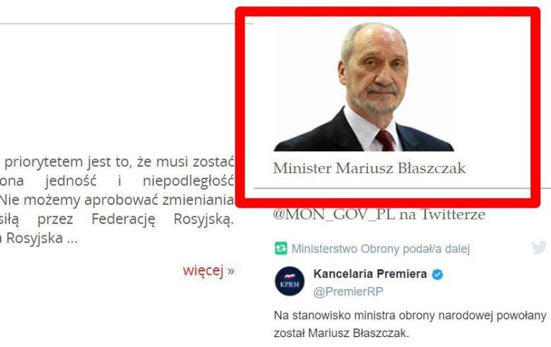 Antoni Macierewicz pozostał Mariuszem Błaszczakiem.
