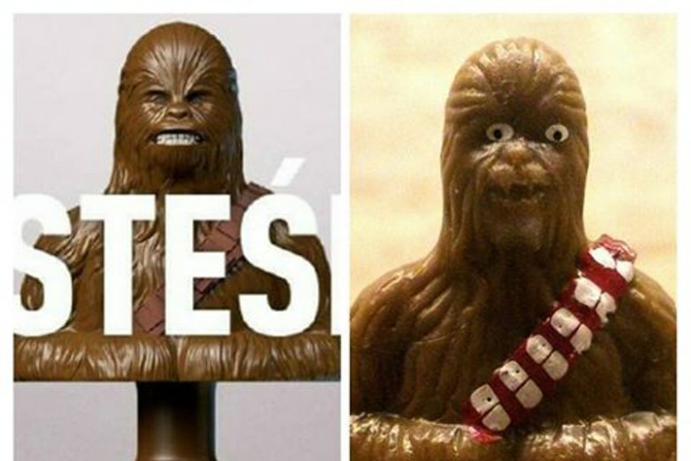 Figurkowy Chewbacca ze Stikeez Lidla nie wygląda jak ten w rzeczywistości. W ogóle nie wygląda:D