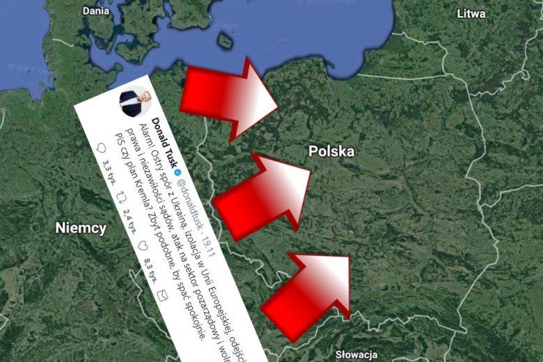 Donald Tusk zaatakował Polskę na Twitterze.  Tak w 1939 roku.