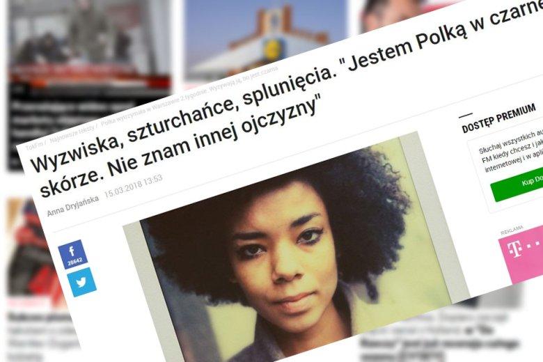 Gdy jesteś czarna  nazywasz się Rajel, nie jest łatwo być Polką.