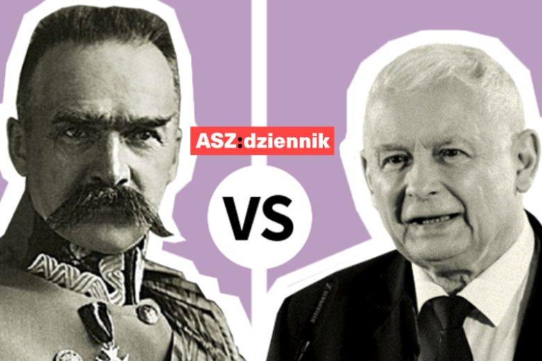 Józef Piłsudski vs. Jarosław Kaczyński. Tę wojnę wygra tylko jeden.