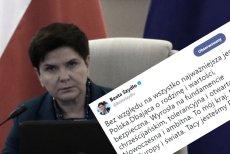 Sukces smutnej Beaty Szydło. Jednym tweetem skutecznie odwróciła uwagę od faktur dla kolegów.