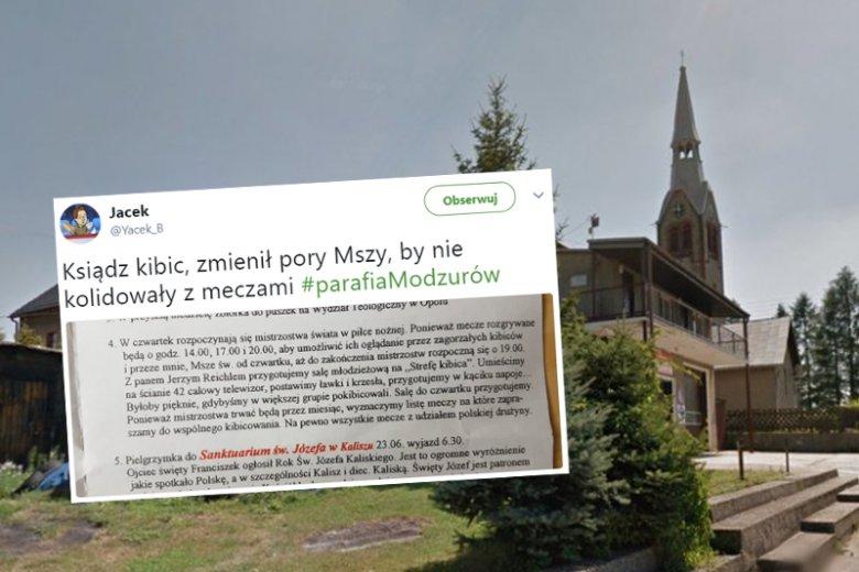 Ksiądz z Modzurowa przełożył msze ze względu na mundial.