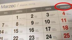 Nowy kalendarz z posobociem w całej okazałości.