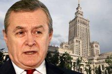 Minister kultury Piotr Gliński i Pałac Kultury i Nauki w Warszawie