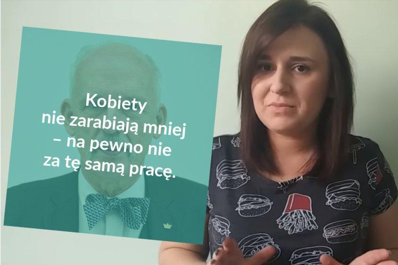 Antyfeministka Katarzyna Tryzno twierdzi, że kobiety nie zarabiają mniej od mężczyzn.