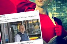 Pan Adam, kierowca autobusu a prywatnie superbohater z Warszawy, uratował chłopca potrąconego przez samochód. Nagrodę od MZA planuje przeznaczyć na Centrum Zdrowia Dziecka.