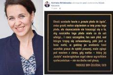 Posłanka Nowoczesnej Kornelia Wróblewska nie głosowała za #RatujmyKobiety, bo wrzucała na FB cytat o prawach kobiet.