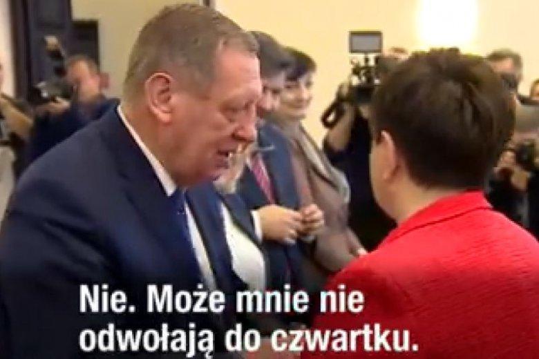 """Beata Szydło """"żartuje"""" ze swojego odwołania."""