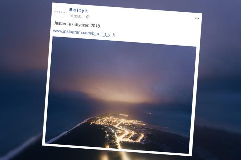 Jastarnia wrzuciła jedną fotkę i przebiła Zakopane.
