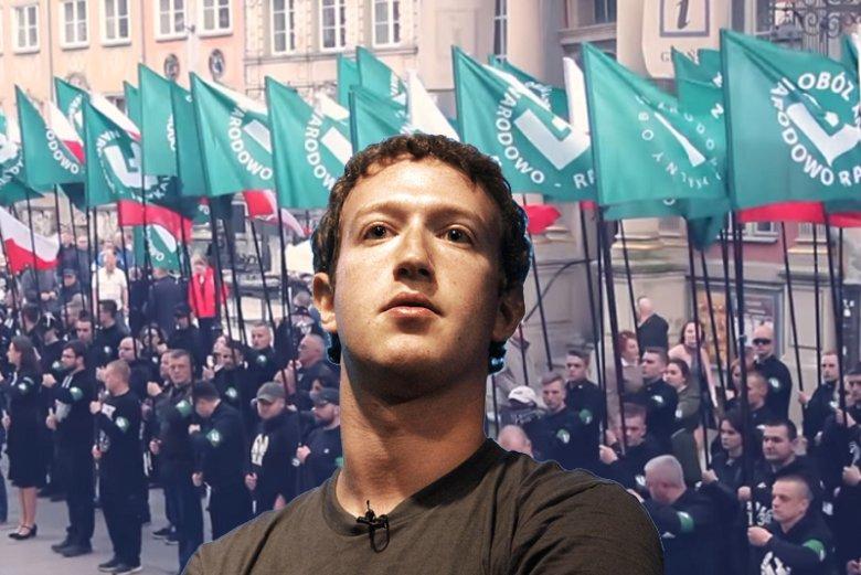 Facebook rzucił ONR.