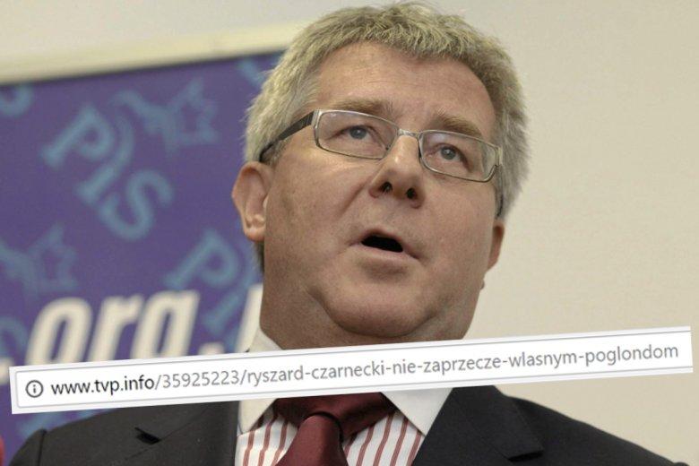 TVP Info chciało oddać honor Czarneckiemu, ale wyszło jak w TVP Info.
