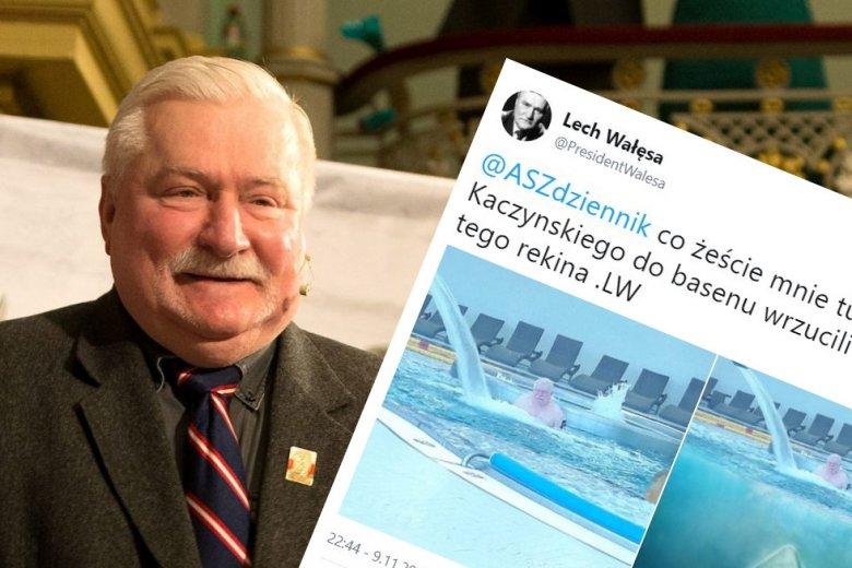 Lech Wałęsa reaguje na ASZdziennik. Oczywiście poszło o Kaczyńskiego.