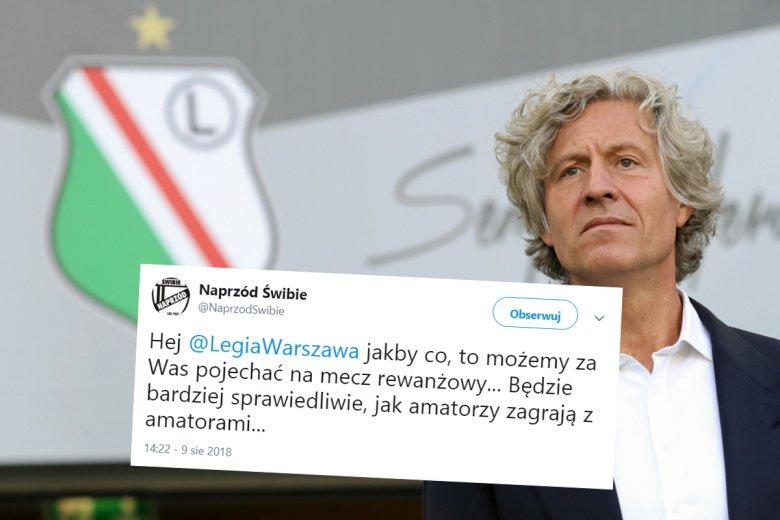 Drużyna z 8. ligi zastąpi Legię Warszawa.