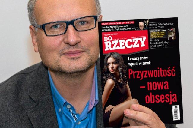 """Paweł Lisicki z alternatywną okładką tygodnika """"Do Rzeczy"""""""