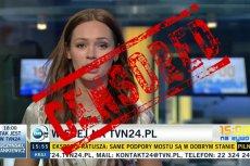 KRRiTV ocenzurowała TVN24, nakładając na nie karę w wysokości 1,5 mln zł.