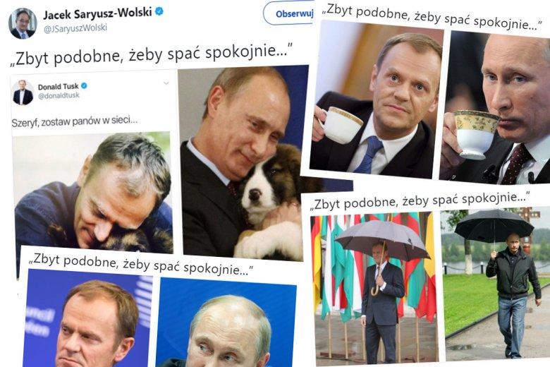 Tusk i Putin na tweecie Jacka Saryusza-Wolskiego