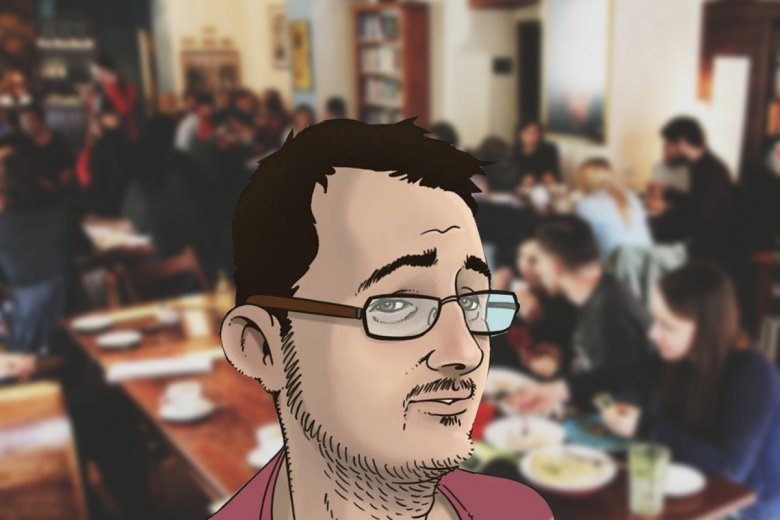 Kazimierz, Kraków. Redaktor ASZdziennika utknął w kawiarni.