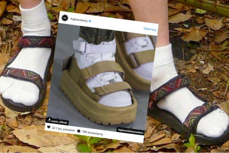 Dramat  sandałów i skarpet. Przebiły je chińskie sandały na butach.